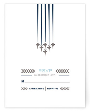 Air Force Salute RSVP Cards