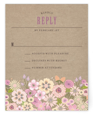 Burlap Bouquet RSVP Cards