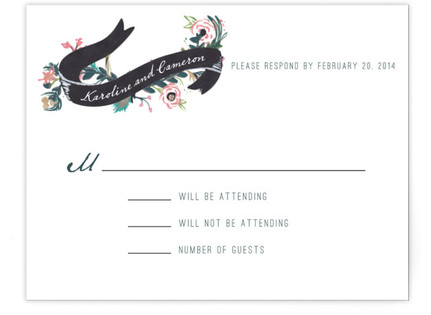 Floral Hand Painted RSVP Cards