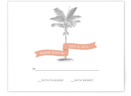 Palm RSVP Cards