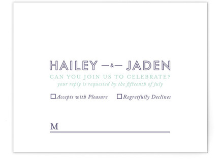 Just What You Need RSVP Cards