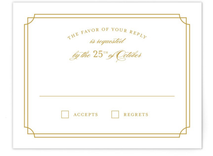 Luxe Border RSVP Cards