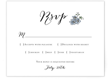 The Wedding Sign Says RSVP Cards