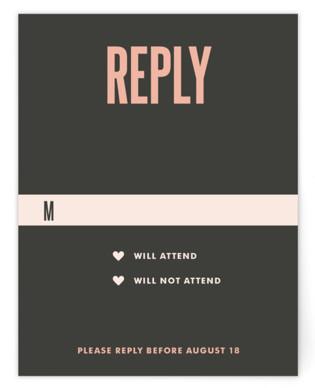 In Love RSVP Cards
