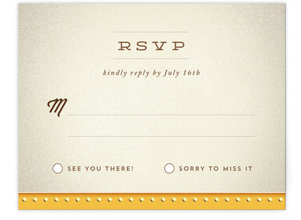 Ampersand Marquee RSVP Cards