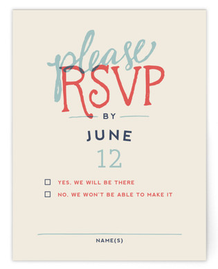 Celebration of Love RSVP Cards