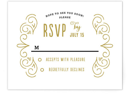 Luxe RSVP Cards