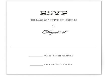 Mod Elegance RSVP Cards