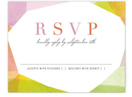 Geometric Watercolor RSVP Cards
