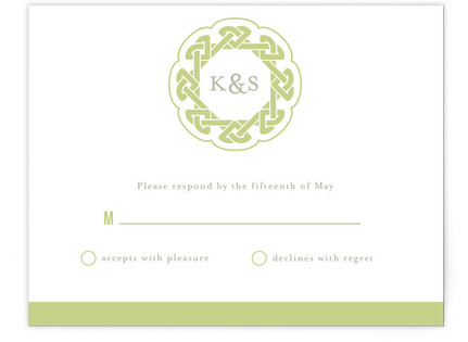 Modern Celtic Knot RSVP Cards