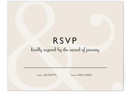 Ampersand RSVP Cards