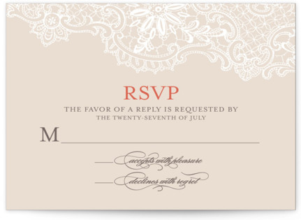 White Lace RSVP Cards