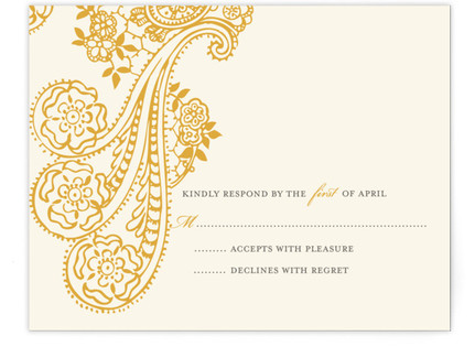 Spanish Lace RSVP Cards