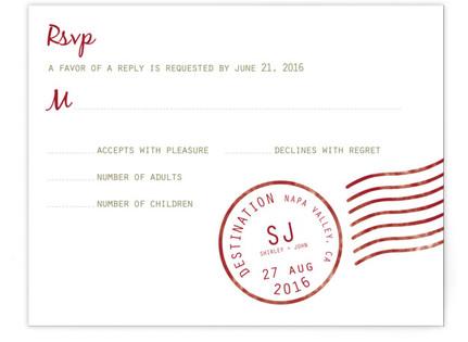 A Faraway Destination RSVP Cards