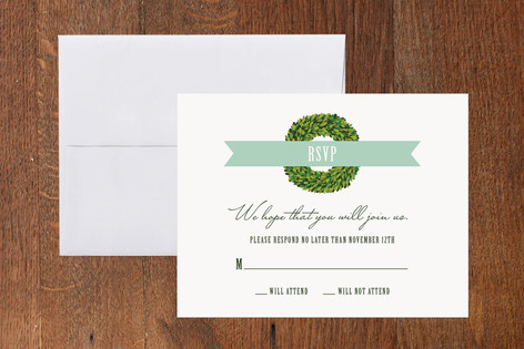 Boxwood RSVP Cards
