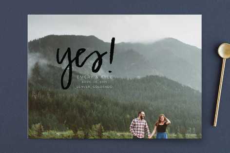 Excitement Save the Date Cards
