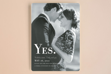Nostalgia Save the Date Cards