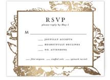 Gilded Bloom Foil-Pressed RSVP Cards