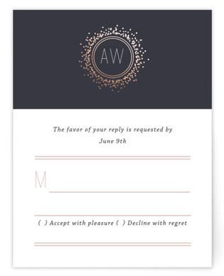 Halo Foil-Pressed RSVP Cards