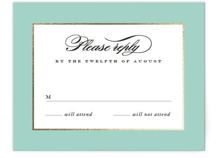 Plunge Foil-Pressed RSVP Cards