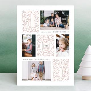 diagonal joy Holiday Photo Cards