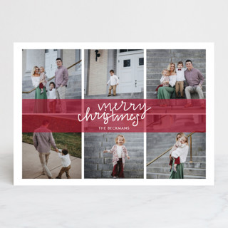 Christmas Grid Holiday Photo Cards