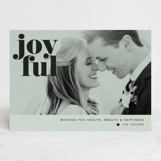 Joyful Holidays Holiday Photo Cards