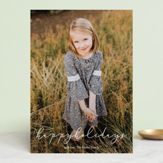 Softly Scripted Holiday Photo Cards