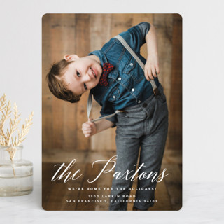 Classic Holiday Moving Holiday Photo Cards