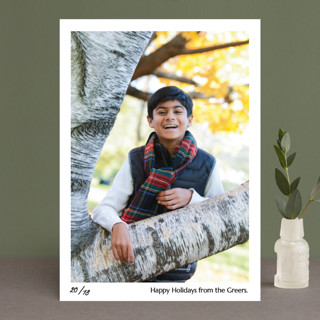 Numbered Print Holiday Photo Cards