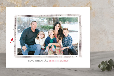 Birch Frame Holiday Photo Cards