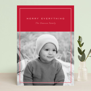 Clean and Simple Holiday Photo Cards