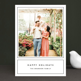 Outline Holiday Photo Cards