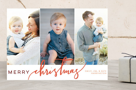 Christmas Scripted Holiday Photo Cards