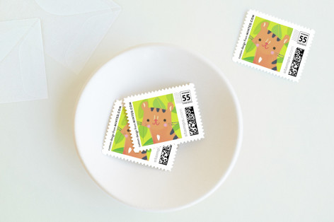 Jungle Tigers Baby and Kids Stamps