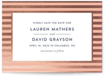 Devoted Foil-Pressed Save The Date Cards