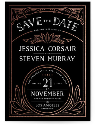 Biltmore Foil-Pressed Save the Date Cards