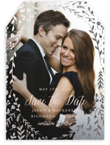 Garden Romance Foil-Pressed Save The Date Cards