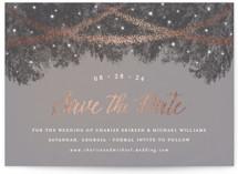 Strands Of Lights Foil-Pressed Save The Date Cards