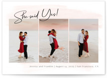 Yes forever Foil-Pressed Save The Date Cards