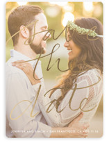 Boutique Foil-Pressed Save The Date Cards
