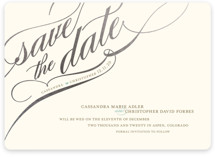 Winter Flourish Foil-Pressed Save The Date Cards