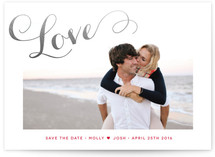 A Chic Love Foil-Pressed Save the Date Cards