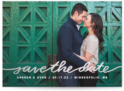 Stringed Foil-Pressed Save the Date...