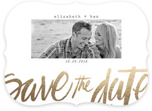 Love Foil-Pressed Save The Date Cards
