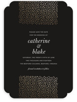 Delicate Dots Foil-Pressed Save The Date Cards