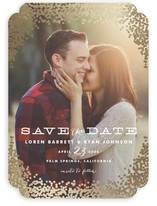 Gold Rush Foil-Pressed Save The Date Cards