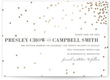 Thrilling Foil-Pressed Save the Date Cards