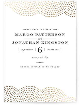 Majestic Foil-Pressed Save the Date Cards