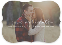 Meet in the Middle Foil-Pressed Save The Date Cards